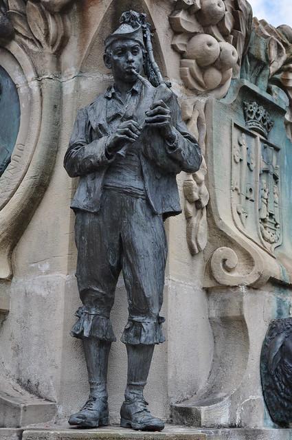 Joueur de gaita, Villaviciosa, principauté des Asturies, Espagne.