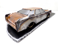 1965 Lincoln Continental metal sculpture