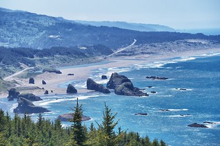View of Hunters Cove, Cape Sebastian State Park.  Cape Sebastian, OR.