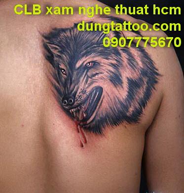 Hinh Xam CA Chep Hoa Rong