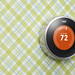 2nd generation Nest Learning Thermostat on wallpaper by Nest