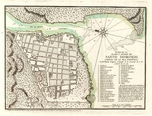 001a-Plano de la Plaza y Ciudad de Santo Domingo, capital de la Isla Española (año de 1785)