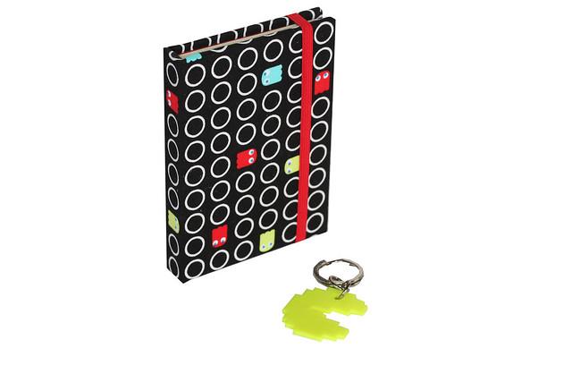 Caderno Pac-Man + Chaveiro