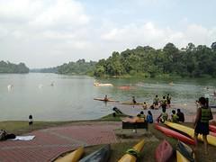 Practising Canoeing