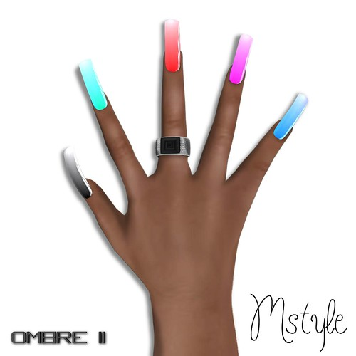Long Nails v2 - Ombre II by Mikee Mokeev