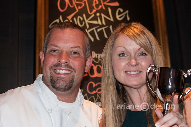 Tableau Bistro Chef Angus posing with Fiona Forbes of Urban Rush