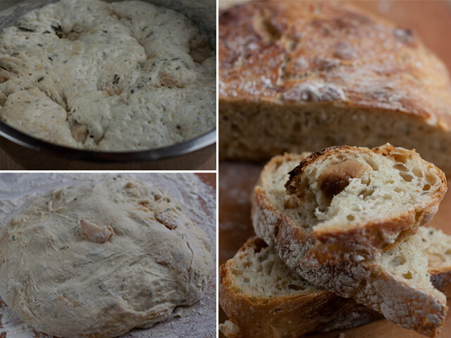 roast garlic rosemary bread