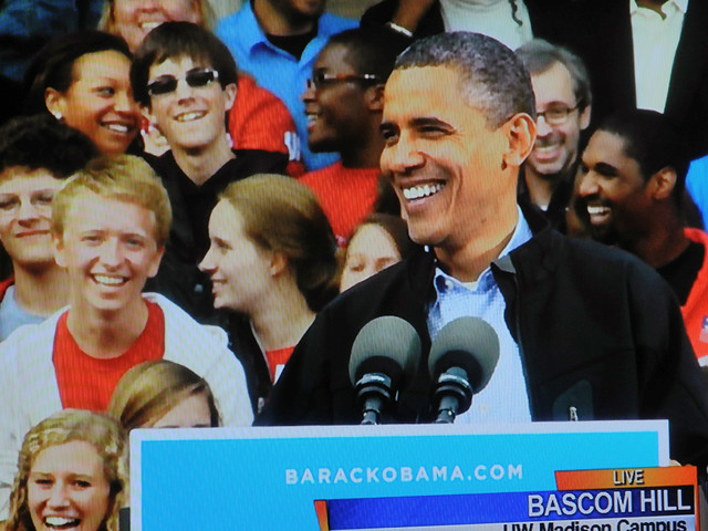 President Obama Hits His Stride on the UW Campus in Madison