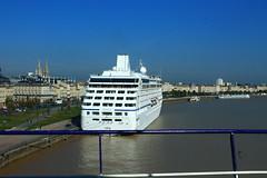 Depuis la passerelle - Escale inaugurale du roulier Ville de Bordeaux - A380 on Board - Bordeaux - 05 octobre 2012