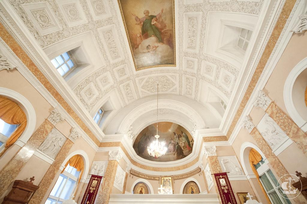 5 октября 2012, Открытие в Академии Художеств выставки, посвященной восстановлению храма СПбПДА