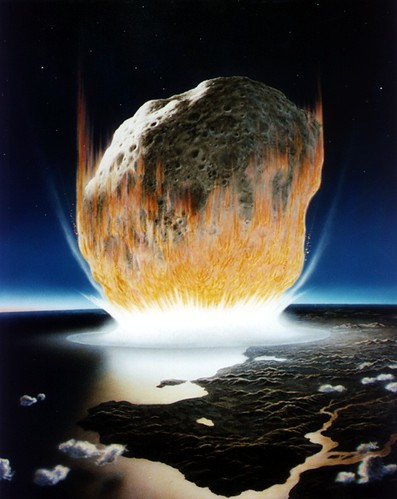NASA simulation of meteor strike