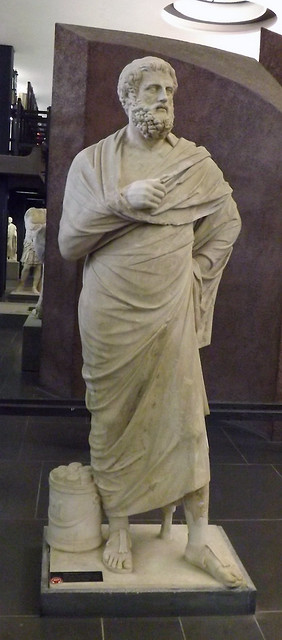 Sophocles from the Theatre at Terracina in the Vatican Museum, July 2012