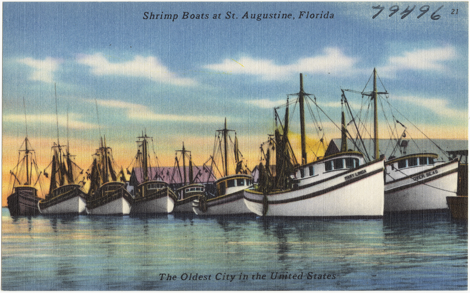 Shrimp Boats At St Augustine Florida The Oldest City In