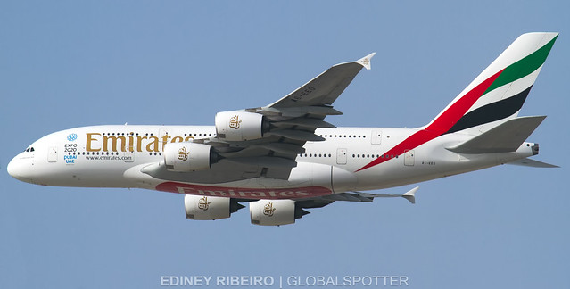 AIRBUS A380-800 (A6-EEO) EMIRATES AIRLINES | DUBAI | DXB-OMDB