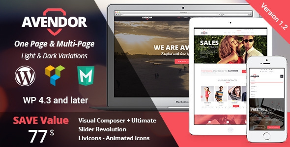 AVENDOR v1.2 - WordPress Responsive Multi-purpose Theme