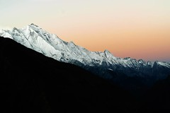 """This was the best moment of the whole trip. Sitting at eagles nest at sunrise and being super lucky to get a clear sky *******************"""" #mountains #sunrise #rakaposhi #hunza #valley #white #snow #Pakistan #north #vsco #colorful #st_ofpakistan #vscocol"""