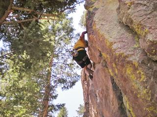Rick Climbing