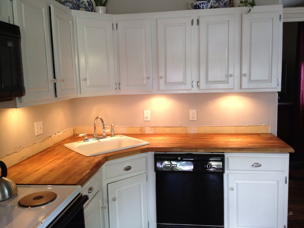 Stick A Fork In Them: The IKEA Butcher Block Counters Are Done!   Old Town  Home