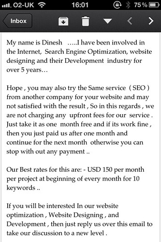 This spam I've just received is so bad it's almost a spoof. by benparkuk