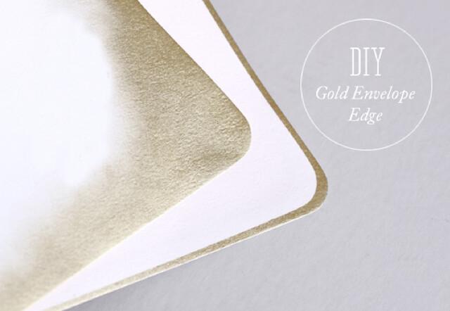 diy gold envelope liners