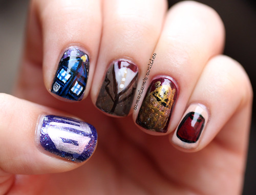 Doctor Who Nails (4)