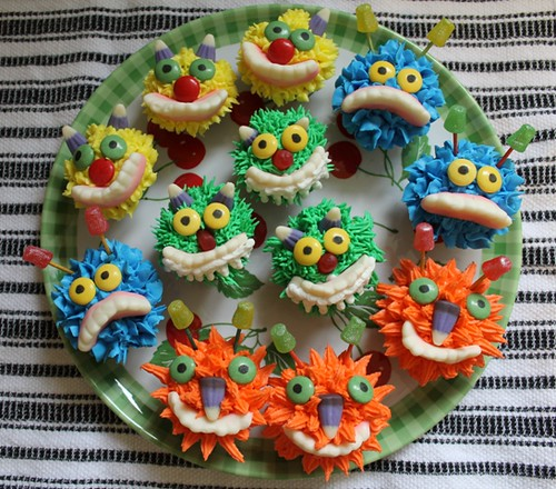 Mini Monster Cupcakes - 1
