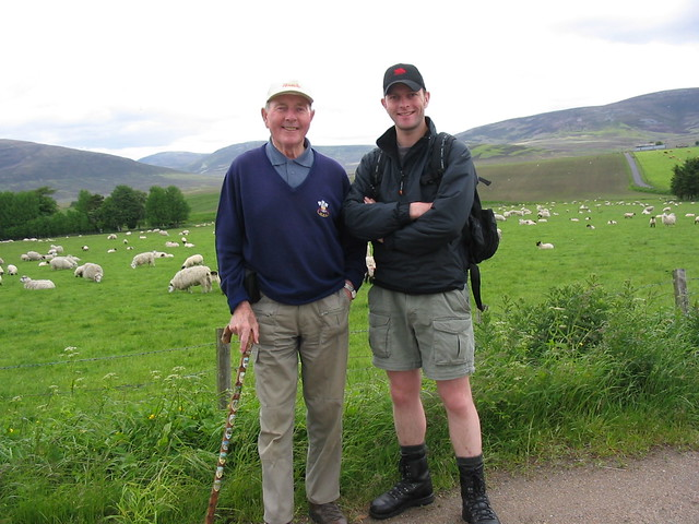 Me and my grandfather at the Braes of Glenlivet near Tomintoul