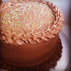Chocolate cake ordered from a lady in Los Angeles to be delivered in Lurgan :)
