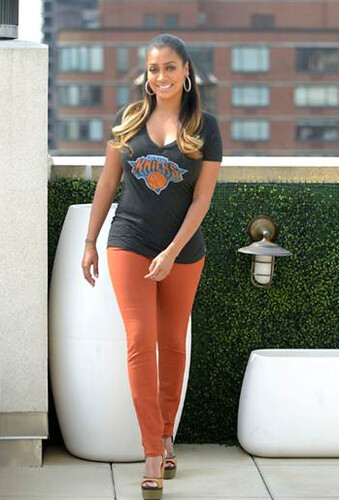 Lala Vasquez Anthony In Knicks Apparel