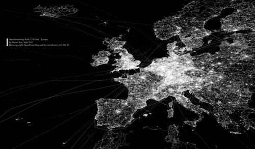 OpenStreetMap GPS bulk data map of Europe
