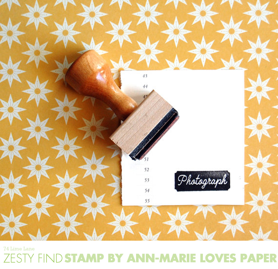 {zesty find} photograph stamp by ann-marie loves paper
