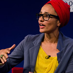 Zadie Smith | Zadie Smith on stage at the Edinburgh International Book Festival talking about her new novel NW