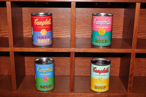 I finally got the Andy Warhol-inspired Campbell's Soup cans.(09/05/2012)