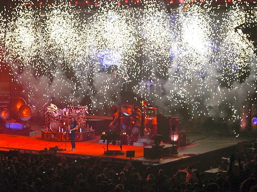 Rush on the opening night of the Clockwork Angels tour