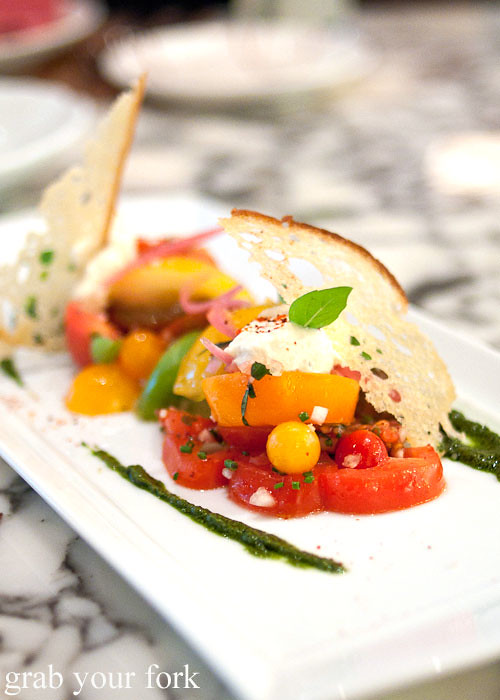 heirloom tomato salad by daniel boulud db bistro moderne at marina bay sands singapore