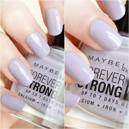 Maybelline Lilac Charm nail polish swatch