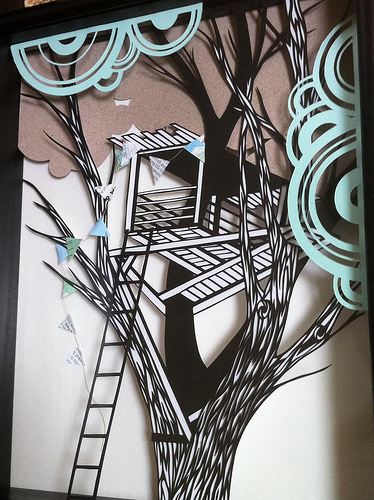 Treehouse Paper Cutting