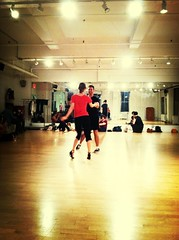Watching the real dancers rehearse. Joe and Suzanne rocking it.