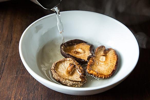 rehydrating mushrooms