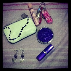 What's in my little purse after my night out in the city..