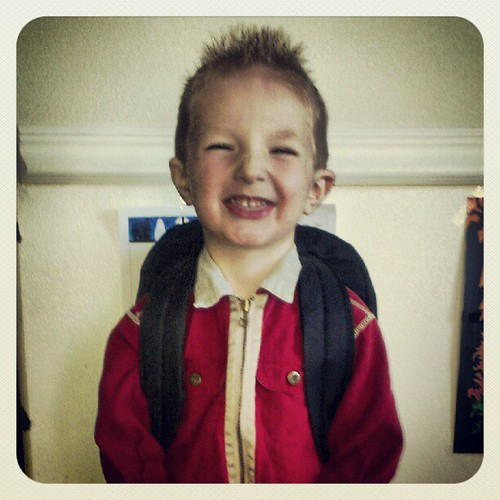 Gabe's first day of preschool! So excited.