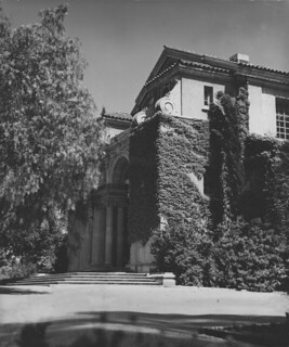 An ivy-covered Bridges Hall of Music in 1946