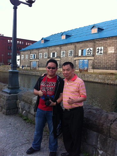 Dad and I, at the Otaru canal