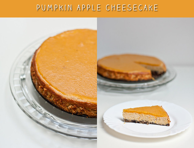 Pumpkin apple cheesecake