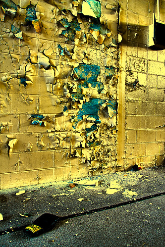 """Peeling Wall & Boxing Glove"" by Larry Troy"