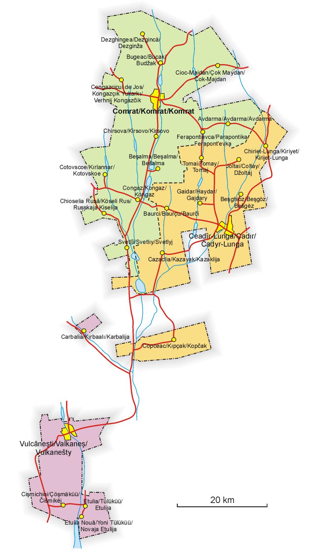 Mapa da Gagaúzia