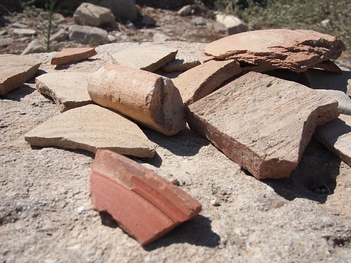 Pottery fragments at Amathous Ruins.  Unlike any historical site I have ever been to, this is lying around as the ruins are not protected.