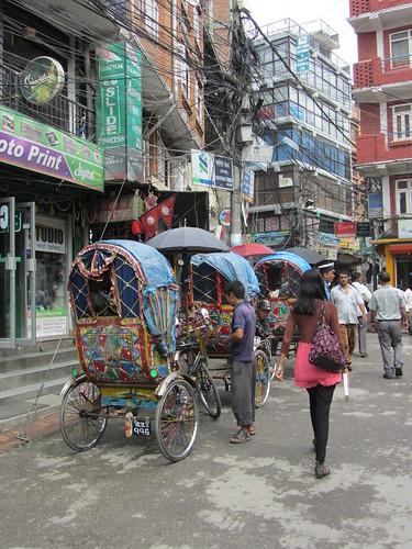 13.Sep.12 Rickshaws in Thamel, Kathmandu