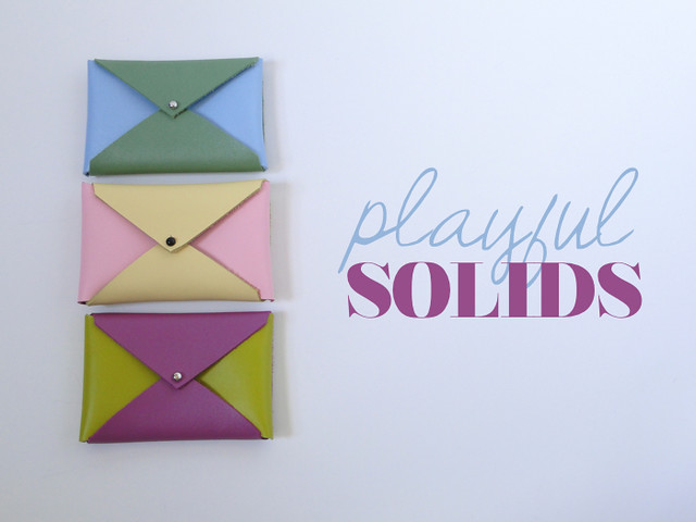 Playful Solid Color Block Card Cases by Etsy seller Fabric Paper Glue