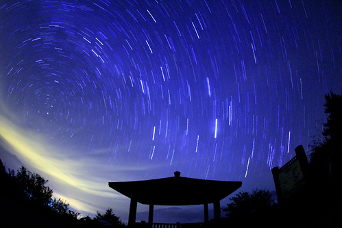 star trails at Fushoushan